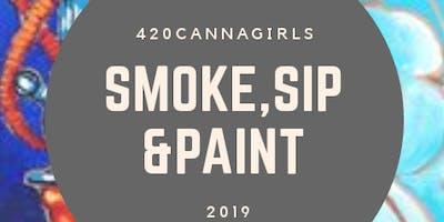 Smoke, Sip & Paint