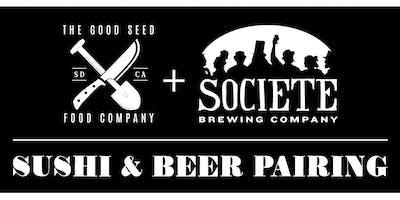 Societe Brewing Sushi & Beer Pairing