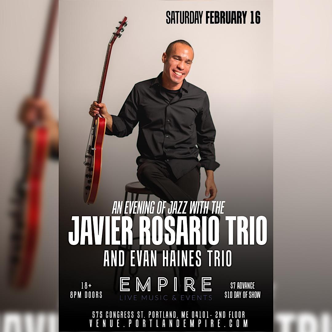 Javier Rosario Trio with Evan Haines Trio