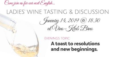 Ladies' Wine Tasting and English Discussion Night