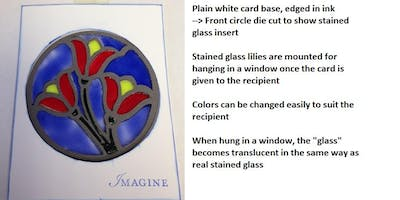 Faux Stained Glass Greeting Card Q1 2019
