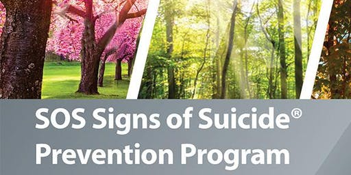 A MOTHER'S STORY & SOS SIGNS OF SUICIDE PREVENTION PROGRAM AUG 28, 2019