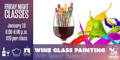 Wine Glass Painting ft. Tara of Studio 51 (Classes at NewBo)