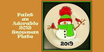 Paint a Snowman Plate