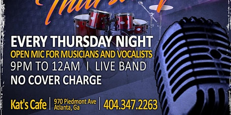Open Mic Thursdays at Kat's Cafe tickets