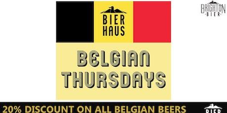 BELGIAN BEER THURSDAY | Brighton Bierhaus tickets