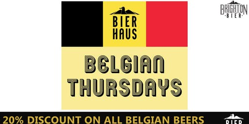 BELGIAN BEER THURSDAY | Brighton Bierhaus