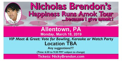 Nicholas Brendon (Buffy & Criminal Minds) Meet & Greet ‐ Allentown (PA)