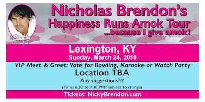 Nicholas Brendon (Buffy & Criminal Minds) Meet & Greet ‐ Lexington (KY)