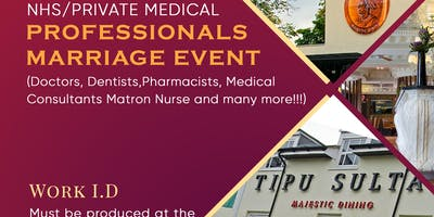 NHS/Private Medical Professionals Marriage Event