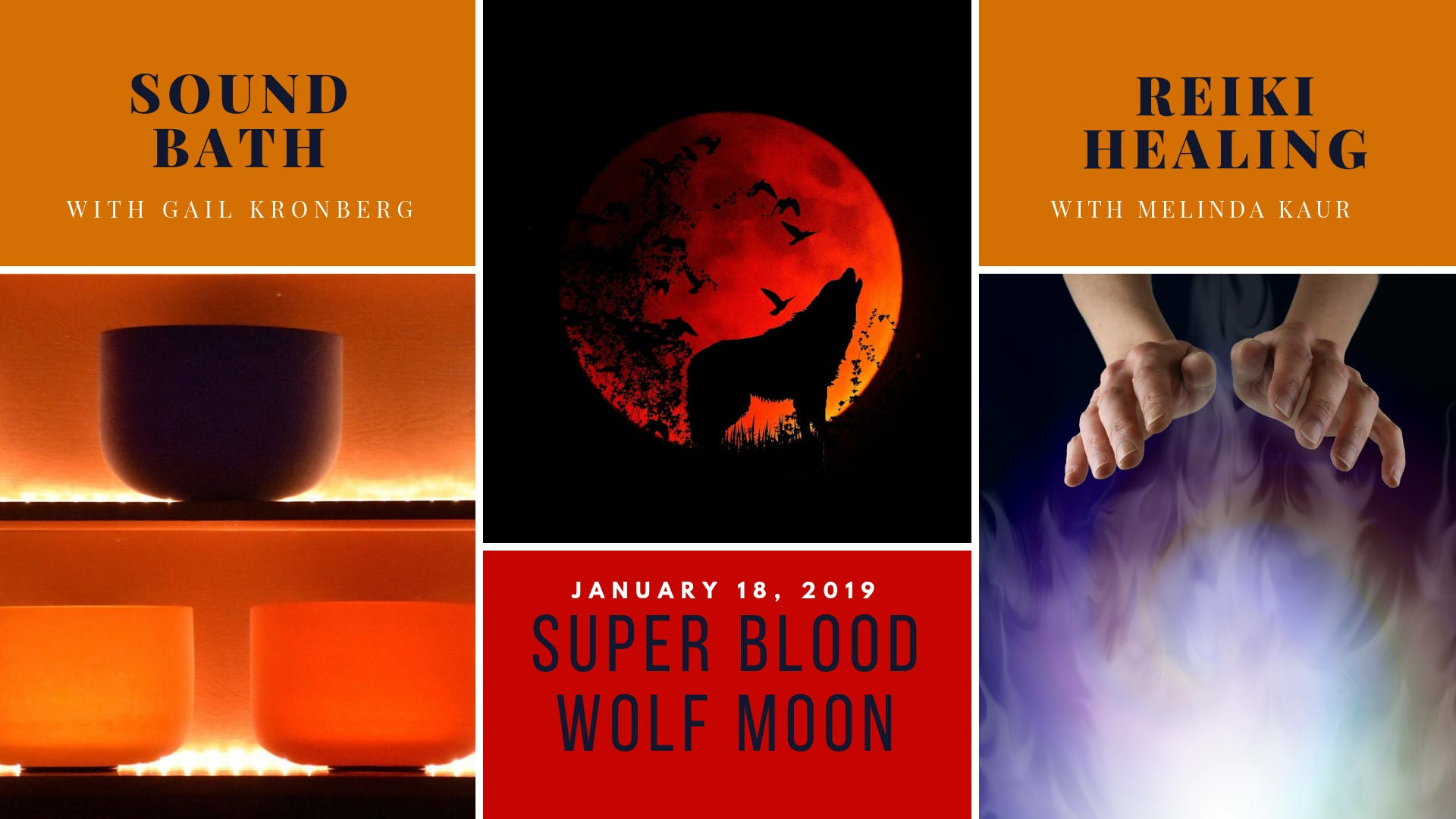 Super Blood Wolf Moon Sound Bath & Reiki Heal