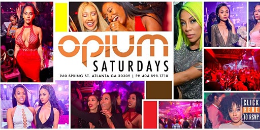 Opium Saturdays at Opium this Saturday