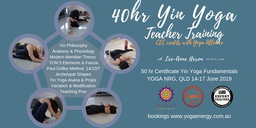 40hr Yin Yoga Fundamentals Certificate Training SC, QLD June 2019 (14-17June)