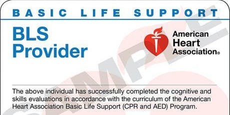 Basic Life Support for Healthcare Training tickets