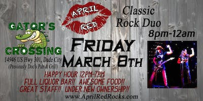 April Red is Back to ROCK Gator's Crossing in Dade City!