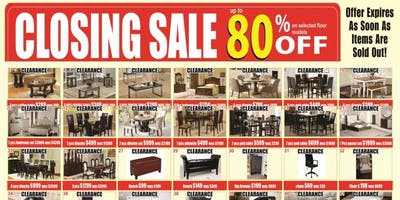 Closing Sale at ARV Furniture Mississauga Ontario Canada