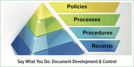 Say What You Do: Document Development & Control tickets