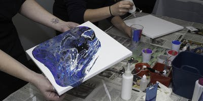 Acrylic Pour Painting Class for Beginners