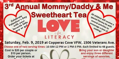 Mommy/Daddy & Me Sweetheart Tea to benefit Copperas Cove Library