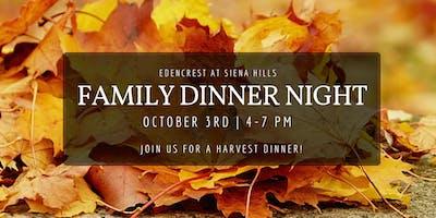 Family Dinner Night- Harvest Dinner