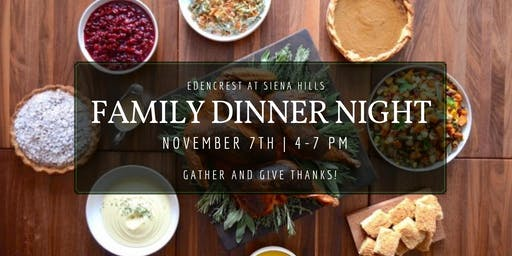 Family Thanksgiving Dinner Night