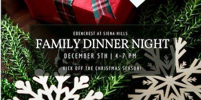 Family Christmas Dinner Night