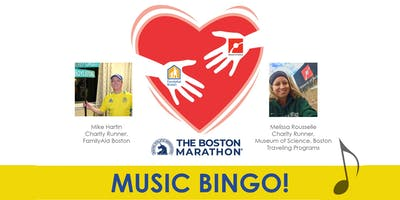 Boston Marathon Music Bingo! Benefits Family Aid Boston & Museum of Science