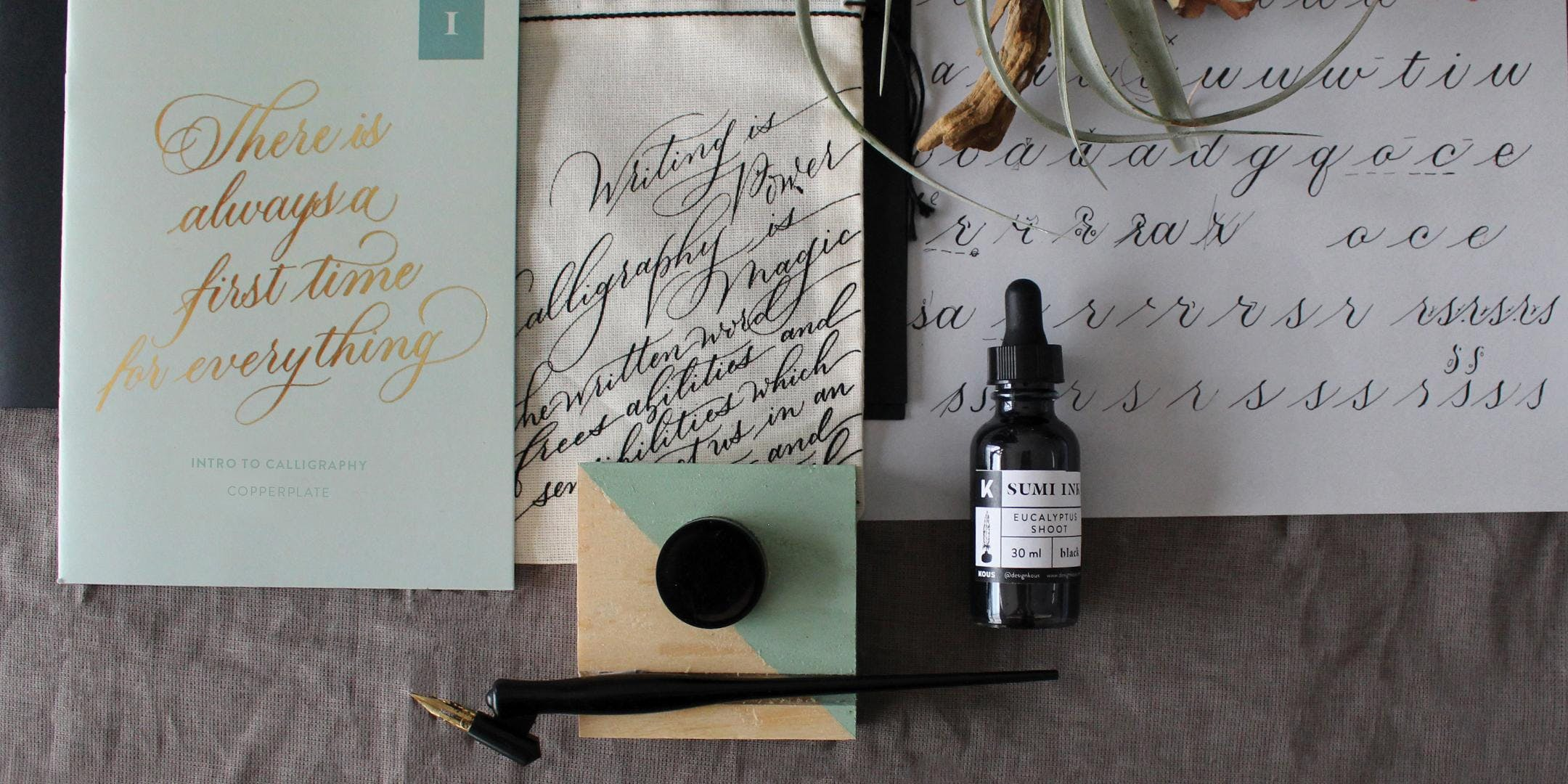 Intro to Copperplate Calligraphy Workshop - 6hrs