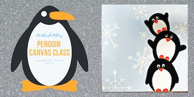 Penguin Canvas Class at Paintbrush Pottery