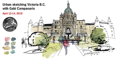 Urban Sketching Victoria B.C. with Gabi Campanario