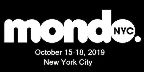 Mondo.NYC 2019 MUSIC FESTIVAL & GLOBAL MUSIC/TECH BUSINESS CONFERENCE tickets
