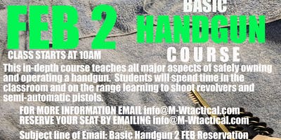 Basic Handgun Class - FREE to Everyone
