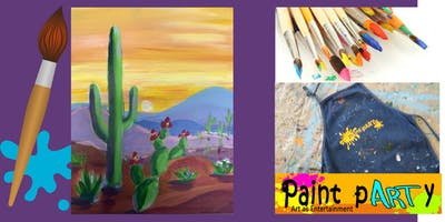 Paint'N'Sip Canvas - Desert Beauty- $35 pp