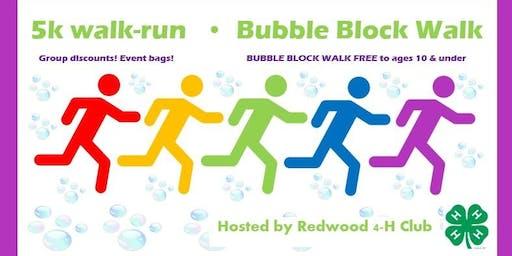 2019 Wendell 5k Color Run & Bubble Block Walk