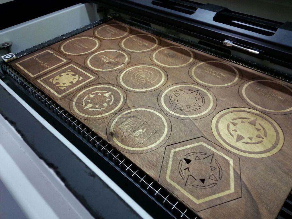 Intro to Lasercutting: Lasercut Coasters!