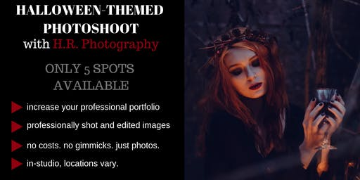Model in H.R. Photography's Halloween Photoshoot