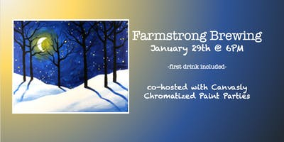 Farmstrong Sip & Paint: Winter Woods