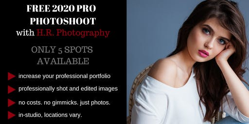 Calling Models: Get Free Portraits with H.R. Photography's 2020 Photoshoot