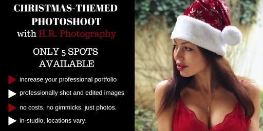 Model in H.R. Photography's Christmas Photoshoot