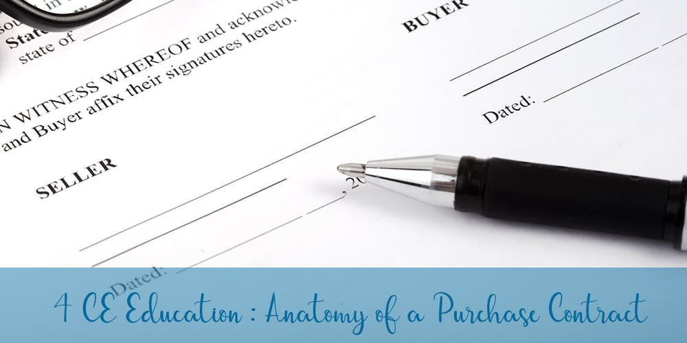 Anatomy Of A Purchase Contract Core Elective Tickets Fri Apr 12