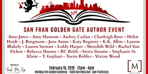 2019 - SAN FRAN GOLDEN GATE AUTHOR EVENT