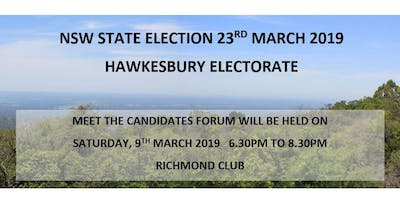 Hawkesbury Electorate Meet the Candidates Forum 2019
