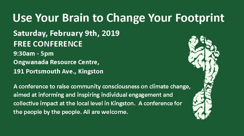 Use Your Brain to Change Your Footprint - FREE Climate Change Conference