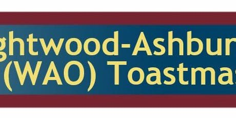 Enhance Your Leadership Skills in 2019 with WAO Toastmasters tickets