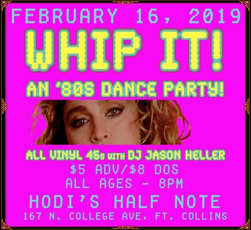 Whip It 80s Dance Party ALL Vinyl 45s With DJ Jason Heller