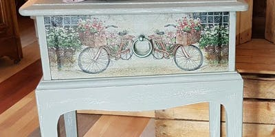 Learn Decoupage with Absolutely Mintage and Frenchic Paint