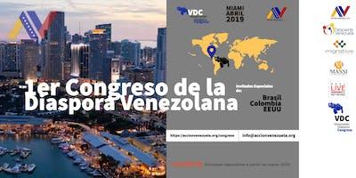 Primer congreso de la diáspora venezolana en Miami.