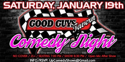 Good Guys Tavern Comedy Night: Sat. Jan. 19th 8:30pm