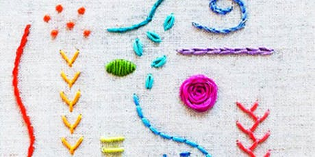 An introduction to embroidery stitches tickets
