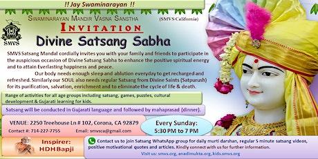 Swaminarayan Satsang Sabha,Bal Sabha,Weekly Gujarati Family Satsang Sabha - Corona,Riverside,Eastvale tickets